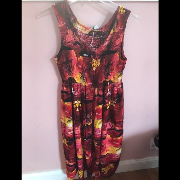 Hawaiian Print Plus Size Woman's Maxi Dress!!!